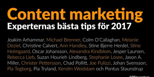 Content marketing tips 2017